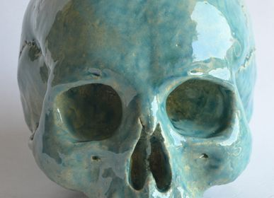 Sculptures, statuettes and miniatures - Ceramic Skull - TODINI SCULTURE