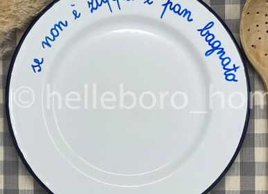 Assiettes au quotidien - Assiette SE NON E' ZUPPA E' PAN BAGNATO - HELLEBORO.HOMEDECOR