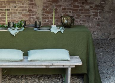 Table linen - Linen Tablecloth with Large Border - ONCE MILANO