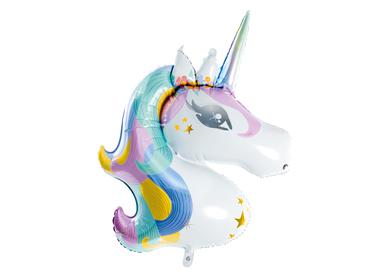 Decorative objects - Foil balloon Unicorn, 73x90cm, mix - PARTYDECO