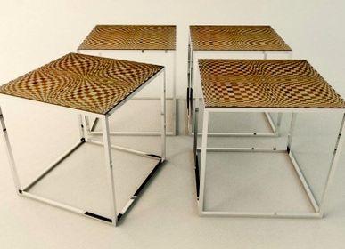 Night tables - Small table OPTIC 45X45X45 - MARZOARREDA