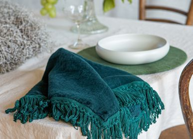 Table linen - Linen Napkin with Long Fringe - ONCE MILANO