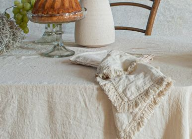 Table linen - Linen Napkin with Short Fringe - ONCE MILANO