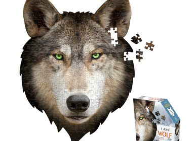 Children's arts and crafts - I AM 300 Puzzle: WOLF - MADD CAPP
