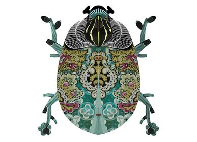 Other wall decoration - Charlie - Decorative beetle with hidden small storage and mirror - MIHO UNEXPECTED THINGS