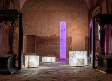 Lampadaires - Cylinder column lamp - ARTIERI ALABASTRO