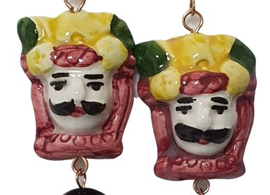Jewelry - Hand painted Sicilian ceramic earring - L'OFFICIEL SRL