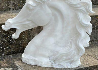 Sculptures, statuettes et miniatures -  Horse head sculpture - ARTIERI ALABASTRO