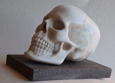 Sculptures, statuettes et miniatures - Crâne de marbre - TODINI SCULTURE
