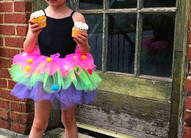 Children's dress-up - Rainbow Pom Pom Skirt - GREAT PRETENDERS