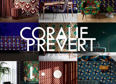 Upholstery fabrics - Upholstery fabrics NOUS IRONS JUSQU'AU SOLEIL collection - Fire Resistant - CORALIE PREVERT PARIS