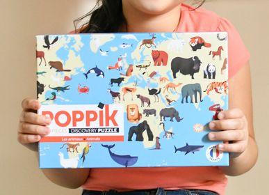 Jeux enfants - Puzzle 500 pièces - ANIMAUX DU MONDE  - POPPIK