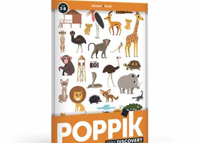 Children's games - Mini Poster SAVANE - 26 STICKERS  - POPPIK