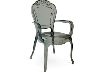 Chaises - Cribel Chimera, chaise en méthacrylate transparent gris - CRIBEL