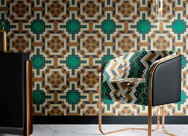 Upholstery fabrics - Upholstery fabric PIERRE QUI ROULE N'AMASSE PAS MOUSSE - CORALIE PREVERT PARIS