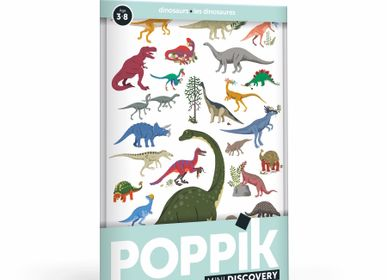 Children's games - Mini Poster DINOSAURES - 26 Stickers  - POPPIK