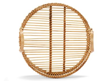 Decorative objects - BAMBOO TRAY WITH HANDLES Ø30X14 MS21503 - ANDREA HOUSE