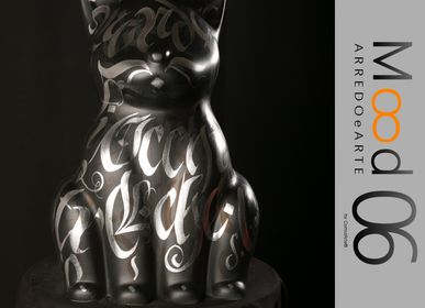 Unique pieces - Bianca Miao - CeraMicinoARTE - a cat statuette - Unique piece of Art made by GEP - Giuseppe Caserta  - MOOD06 ARREDO E ARTE BY COMPUTARTE®