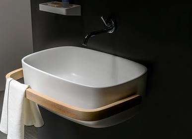 Lave-mains - Vasque en polyurethane evec porte-serviettes  - EVER LIFE DESIGN