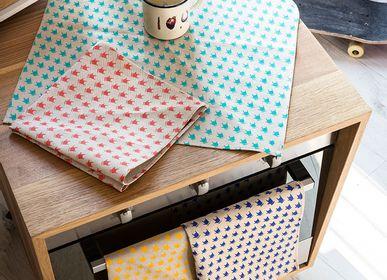 Sets de table - Set de 4 sets de table ou toile COLORS - coton sérigraphié à la main - WE LOVE ROCK
