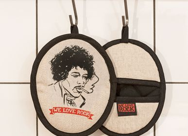 Potholders - Rockers pot holder VOODOO CHILE - printed by hand - WE LOVE ROCK