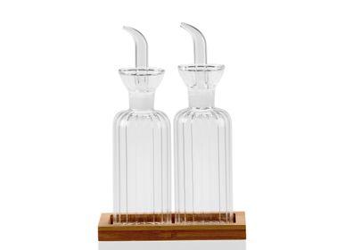 Kitchen utensils - OIL/VINEGAR GLASS SET 15X8,5X22 MS21525 - ANDREA HOUSE