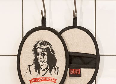 Potholders - Rockers pot holder ELECTED - printed by hand - WE LOVE ROCK