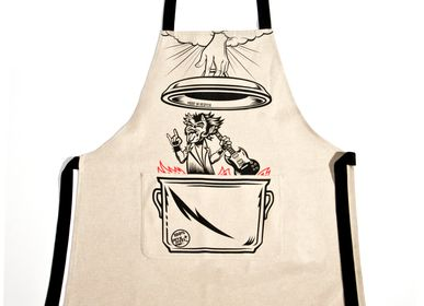 Barbecues - Apron Devil Steel cotton printed by han - WE LOVE ROCK