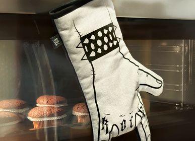 Couverts & ustensiles de cuisine - Gant de cuisine imprimé à la main Rock'n'Roll - Gant de four - Cornes à main - Droitier - WE LOVE ROCK