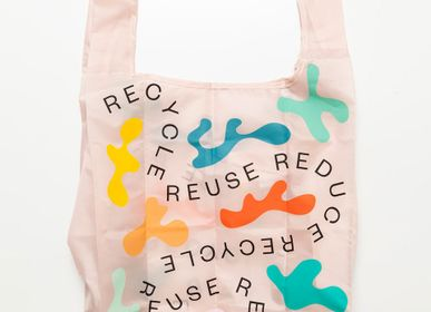 Bags and totes - RECYCLE FOLDABLE BAG - WOOD'D