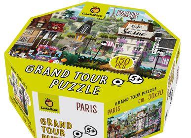 Jouets enfants - Ludattica Puzzles: PARIS Grand tour puzzle - LUDATTICA
