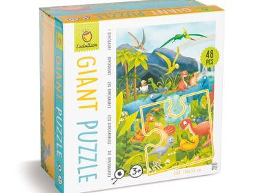 Jouets enfants - Ludattica Puzzles: DINOSAURES - Puzzle géant - LUDATTICA