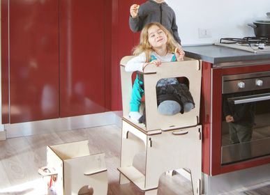 Baby furniture - Salila, the 3 in 1 Montessori learning tower - NINIDESIGN