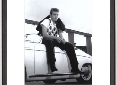Art photos - Wall decoration. James Dean on a Porsche Speedster. - ABLO BLOMMAERT