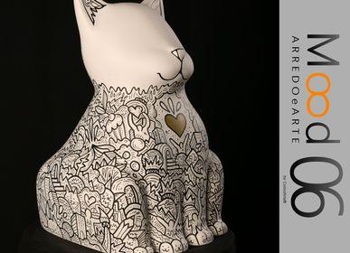 Unique pieces - Bianca Miao - CeraMicinoARTE - a cat statuette - Unique piece of Art made by Francesco Caporale - MOOD06 ARREDO E ARTE BY COMPUTARTE