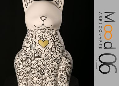 Unique pieces - Bianca Miao - CeraMicinoARTE - a cat statuette - Unique piece of Art made by Francesco Caporale - MOOD06 ARREDO E ARTE BY COMPUTARTE®