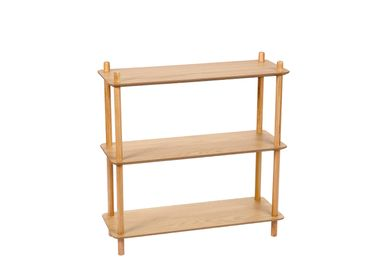 Bookshelves - OAK BOOKSHELF 80X30X82 MU21532 - ANDREA HOUSE
