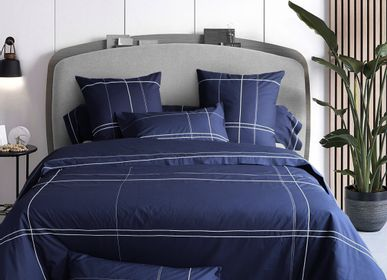 Bed linens - Charles Cotton Percale Embroidered Bed Linen - TRADITION DES VOSGES