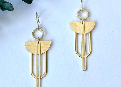Bijoux - Boucles d'oreilles dorée à l'or fin. - NAO JEWELS