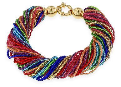 Bijoux - Bracelet multi-brins arc-en-ciel - LINEA ITALIA SRL