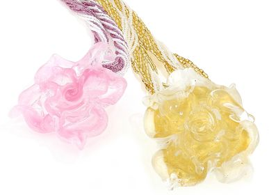 Jewelry - Glass Flowers Necklace - LINEA ITALIA SRL