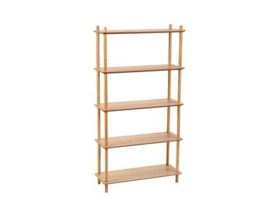 Bookshelves - OAK BOOKSHELF 80X30X149 MU21533 - ANDREA HOUSE