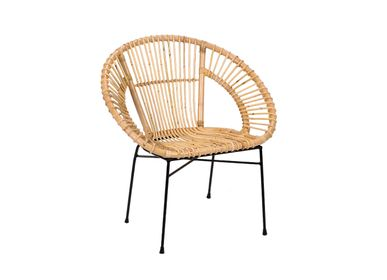 Chairs - RATTAN CHAIR ROLAND 44X51X81 CM MU21118 - ANDREA HOUSE