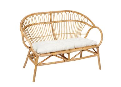 Benches - RATTAN BENCH SEAT 120X67X85 MU21121 - ANDREA HOUSE