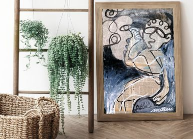 "Paintings - ""Correspondence"" Original artwork painting - L'ATELIER D'ANGES HEUREUX"