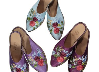 Shoes - EMBROIDERED SLIPPERS HANDMADE LEATHER SHOES  - LALAY