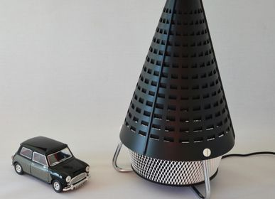 Design objects -  Tornado black rocket lamp - ARTJL