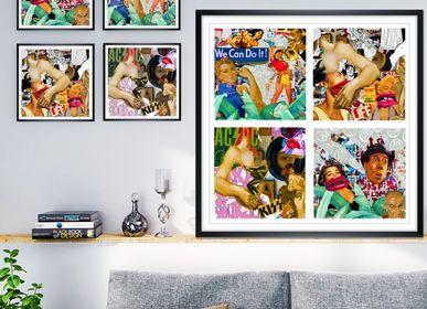 "Fabric cushions - ""PIM"" Collage Limited Edition - L'ATELIER D'ANGES HEUREUX"