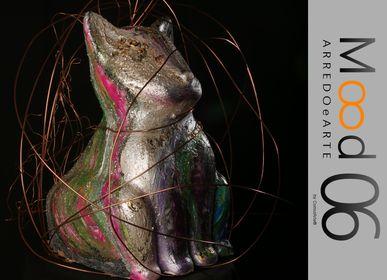 Unique pieces - Bianca Miao - CeraMicinoARTE - a Cat statuette - Unique Art piece made by Laura D'Andrea - MOOD06 ARREDO E ARTE BY COMPUTARTE