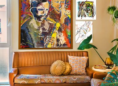 """Paintings - """"Seb & Chass"""" Limited Edition Painting - L'ATELIER D'ANGES HEUREUX"""